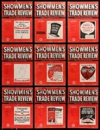 3w069 LOT OF 13 SHOWMEN'S TRADE REVIEW 1953 EXHIBITOR MAGAZINES '53 great images & information!
