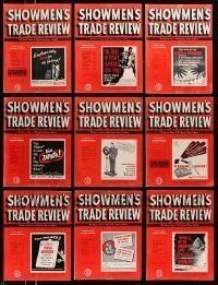 3w070 LOT OF 13 SHOWMEN'S TRADE REVIEW 1952 EXHIBITOR MAGAZINES '52 great images & information!