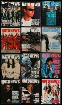 3w071 LOT OF 13 NATO NEWS EXHIBITOR MAGAZINES '90s filled with great images & information!