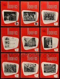 3w074 LOT OF 13 BOX OFFICE 1962 EXHIBITOR MAGAZINES '62 filled with great images & information!
