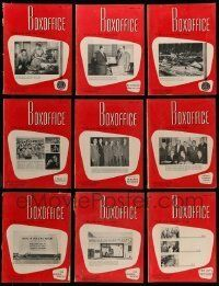 3w075 LOT OF 11 BOX OFFICE 1954 EXHIBITOR MAGAZINES '54 filled with great images & information!