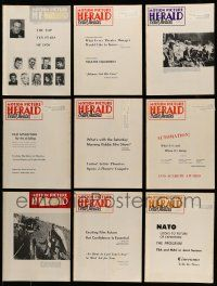 3w076 LOT OF 9 MOTION PICTURE HERALD 1971 EXHIBITOR MAGAZINES '71 great images & information!