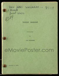 4g002 CREATURE FROM THE BLACK LAGOON revised 1st draft script Jan 5, 1953 first complete script!