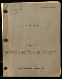 4g600 SPARTACUS second draft script September 22, 1958, screenplay by Dalton Trumbo!