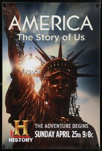 4j644 AMERICA: THE STORY OF US tv poster '10 great image of the Statue of Liberty in NYC!