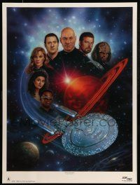 4j069 STAR TREK: THE NEXT GENERATION signed 26x35 art print '92 by artist Keith Birdsong, 1627/1850