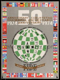 4j048 FIDE 50TH ANNIVERSARY Puerto Rican '74 50th anniversary of the World Chess Federation!