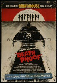 4k222 DEATH PROOF int'l DS 1sh '07 Quentin Tarantino's Grindhouse, cool different car art!