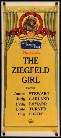 4r362 MGM Aust daybill 40s The Ziegfeld Girl Stewart Garland Lamarr Turner Martin
