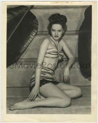 4s021 ALEXIS SMITH deluxe 11x14 still '40s full-length sexy young portrait wearing swimsuit!