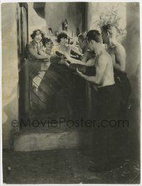 4s023 ALL QUIET ON THE WESTERN FRONT deluxe 8.25x10.75 still '30 soldiers offer French girls meat!