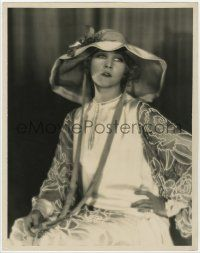 4s039 ANNA Q. NILSSON deluxe 10.75x13.75 still '20s great seated portrait by Harold Dean Carsey!