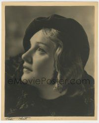 4s040 ANNA STEN deluxe English 9.75x11.75 still '20s profile, signed by photographer Peter North!