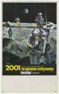 4s003 2001: A SPACE ODYSSEY Cinerama mini WC '68 Kubrick, art of astronauts on moon by Bob McCall!