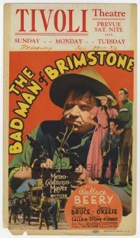 4s005 BAD MAN OF BRIMSTONE mini WC '37 outlaw Wallace Beery, Dennis O'Keefe & Virginia Bruce!