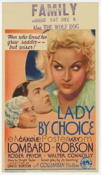 4s001 LADY BY CHOICE mini WC '34 men who loved gorgeous Carole Lombard grew sadder, but wiser!