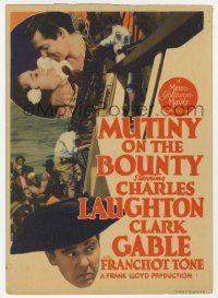4s010 MUTINY ON THE BOUNTY mini WC '35 Clark Gable, Charles Laughton, sexy Movita, different!