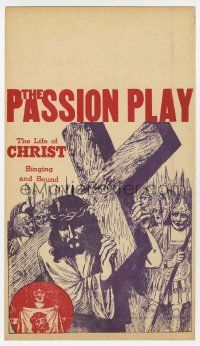 4s012 PASSION PLAY mini WC '40s The Life of Christ with Singing and Sound, art of Jesus w/ cross!