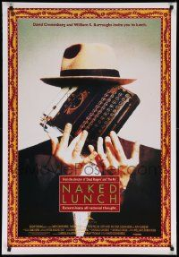 4t050 NAKED LUNCH Canadian 1sh '91 David Cronenberg, Peter Weller, William S. Burroughs!