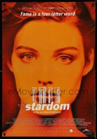 4t055 STARDOM Canadian 1sh '00 fame is a four letter word, pretty Jessica Pare!