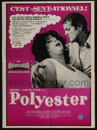 4t047 POLYESTER Canadian '81 John Waters, Divine, Tab Hunter, filmed in Odorama!
