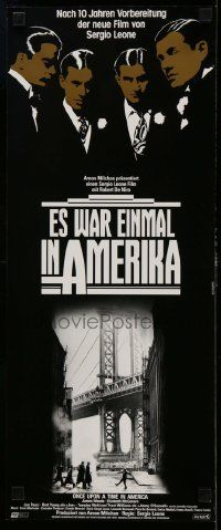 4t079 ONCE UPON A TIME IN AMERICA German 9x21 '84 De Niro, James Woods, Leone, German title design
