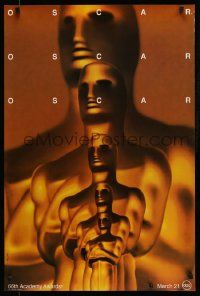 4w012 66TH ANNUAL ACADEMY AWARDS 1sh '94 by Saul Bass, wonderful art of Oscar statuettes!