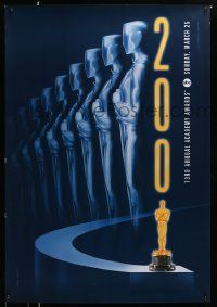 4w014 73RD ANNUAL ACADEMY AWARDS 1sh '01 cool Alex Swart design & image of many Oscars!