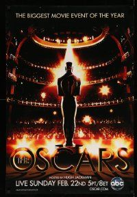 4w019 81ST ANNUAL ACADEMY AWARDS DS 1sh'09 cool art of the Oscar statuette in front of huge audience