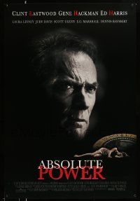 4w022 ABSOLUTE POWER 1sh '97 great image of star & director Clint Eastwood!
