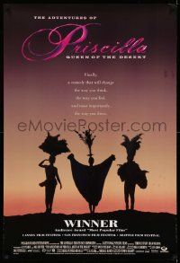 4w028 ADVENTURES OF PRISCILLA QUEEN OF THE DESERT DS 1sh '94 silhouette of Stamp, Weaving, Pearce!