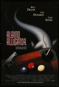 4w032 ALBINO ALLIGATOR 1sh '96 directed by Kevin Spacey, Matt Dillon, art of pool table & gun!