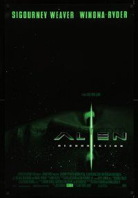 4w038 ALIEN RESURRECTION style C int'l advance DS 1sh '97 Sigourney Weaver, Winona Ryder, Perlman!