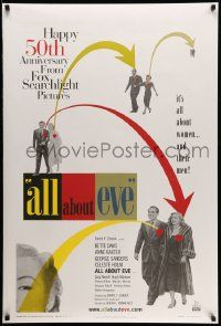 4w041 ALL ABOUT EVE DS 1sh R00 Bette Davis & Anne Baxter classic, Marilyn Monroe shown!