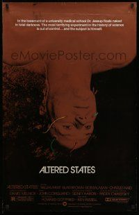 4w045 ALTERED STATES foil 1sh '80 William Hurt, Paddy Chayefsky, Ken Russell, sci-fi!
