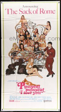 4y892 PUSSYCAT PUSSYCAT I LOVE YOU int'l 3sh '70 sexy half-naked girls with Ian McShane & gorilla!