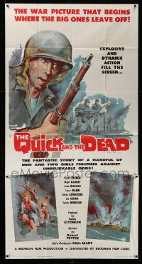 4y893 QUICK & THE DEAD 3sh '63 a handful of men & two girls fight against unbelievable odds!