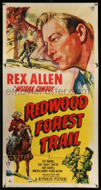 4y900 REDWOOD FOREST TRAIL 3sh '50 cool close up art of Arizona Cowboy Rex Allen!
