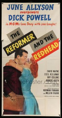 4y901 REFORMER & THE REDHEAD 3sh '50 June Allyson overpowers Dick Powell with 1000 laughs!