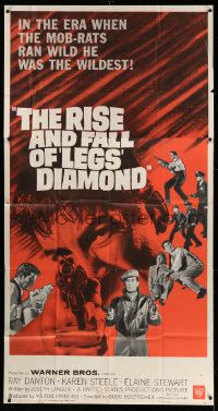 4y909 RISE & FALL OF LEGS DIAMOND 3sh '60 gangster Ray Danton, directed by Budd Boetticher!