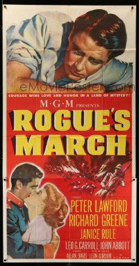 4y915 ROGUE'S MARCH 3sh '52 Peter Lawford, Janice Rule & Richard Greene in a land of mystery!