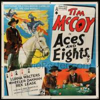4y004 ACES & EIGHTS 6sh '36 great art of title in playing card + Tim McCoy gambling at poker!