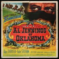 4y007 AL JENNINGS OF OKLAHOMA 6sh '50 the real and violent story of the last of the great outlaws!