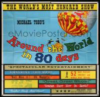 4y010 AROUND THE WORLD IN 80 DAYS 6sh '58 all-star epic, The World's Most Honored Show!