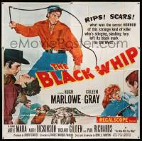4y014 BLACK WHIP 6sh '56 what was the secret HORROR of this strange killer of the West?