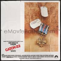 4y020 CATCH 22 int'l 6sh '70 directed by Mike Nichols, based on the novel by Joseph Heller!