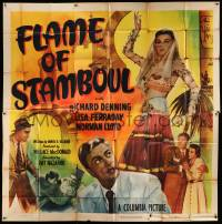 4y031 FLAME OF STAMBOUL 6sh '51 Richard Denning, full-length image of sexy bellydancer!