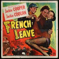 4y033 FRENCH LEAVE 6sh '48 child stars Jackie Cooper & Jackie Coogan all grown up!