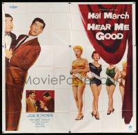 4y041 HEAR ME GOOD 6sh '57 Hal March, Joe Ross, Merry Anders, Jean Willes, beauty contest comedy!