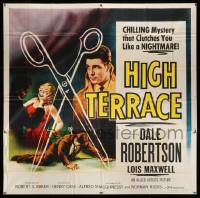 4y042 HIGH TERRACE 6sh '56 Dale Robertson, English mystery that clutches you like a nightmare!